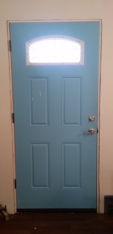 Front door before trim-trnd
