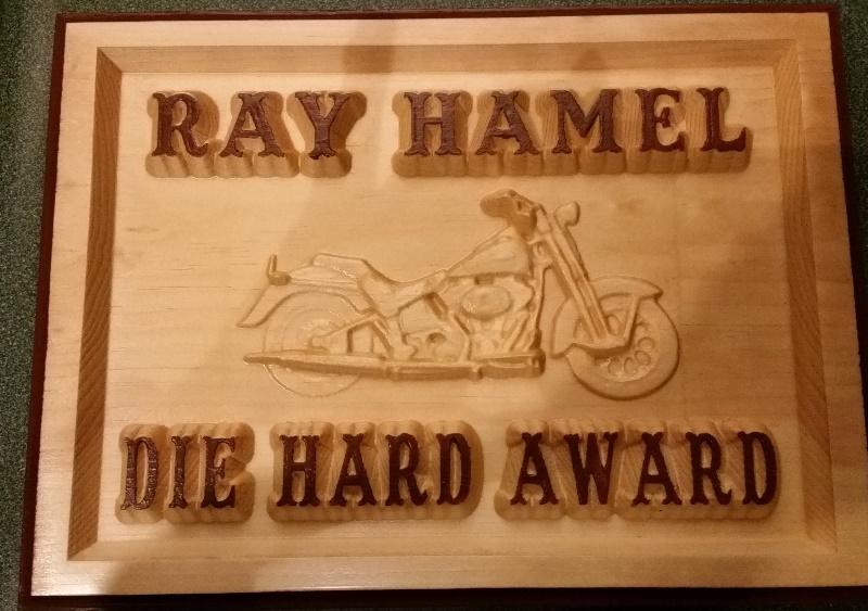 Cheryl Die Hard Award Plaque