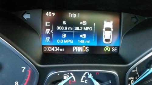 Car has 3434 miles 4-4-19