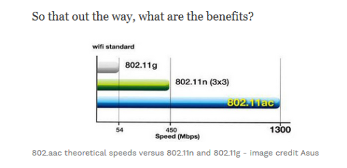 Speed differences between n and ac