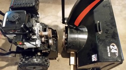Snow blower apart