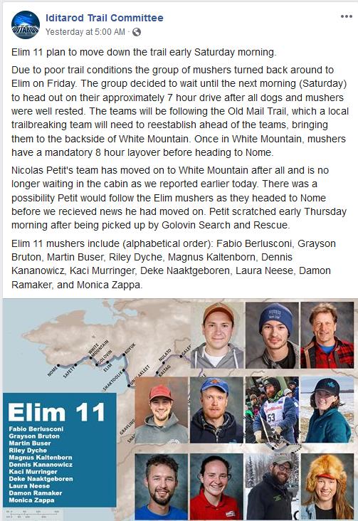 Elim 11 to leave elim