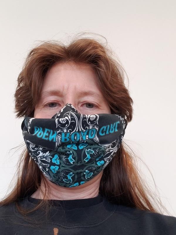 Me wearing second mask-trnd