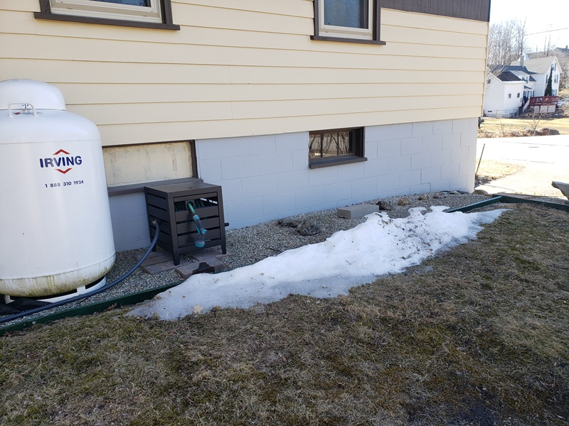 Snow by propane tanks 3-22-20 before storm