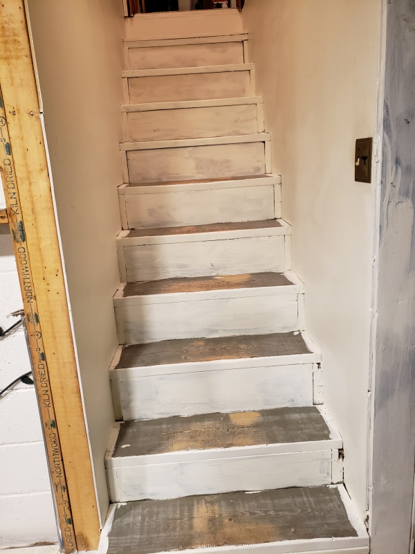 Stair risers and sides painted - trnd