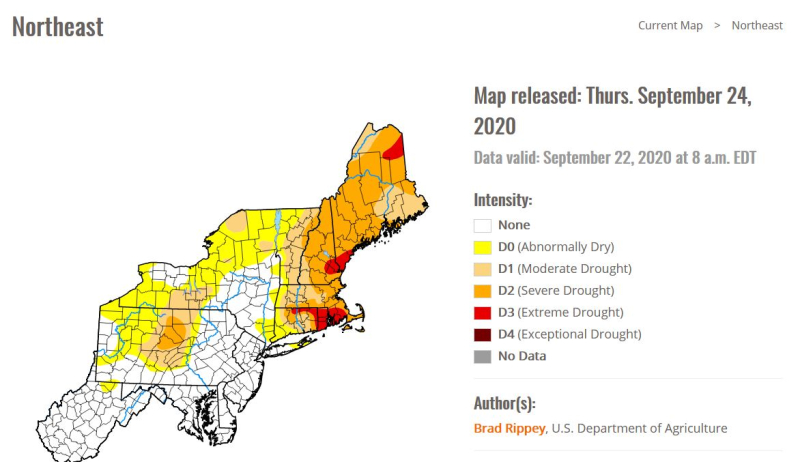 Drought map 9-22-20