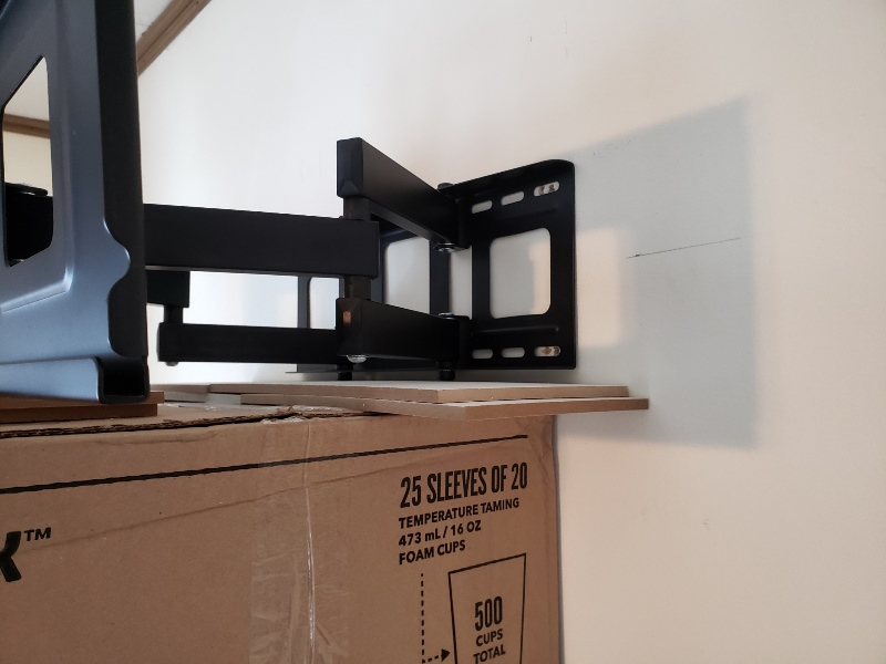 Set up for tv wall mount2