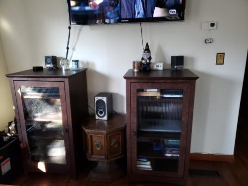 AV centers (both) under tv