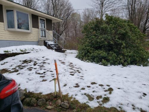 Snow left on Saturday