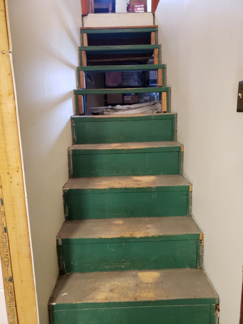 Stairs with no-slip treads removed-trnd