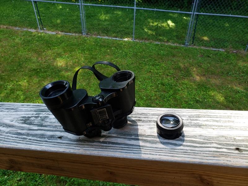 Binoculars broken