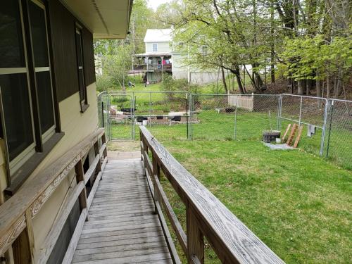 Veiw of no fence from back door