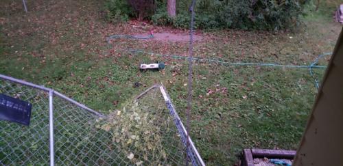 Fence panel bent