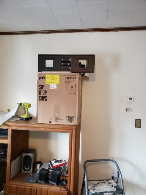 Set up for tv wall mount-trnd