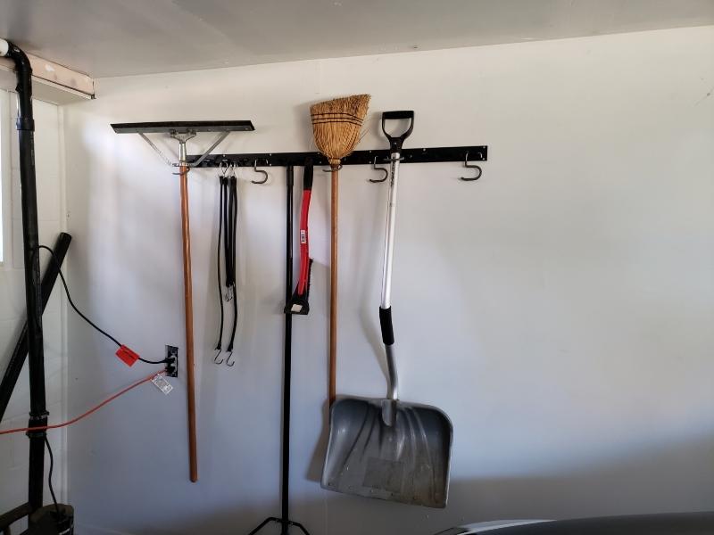 Garage tool hanger organizer