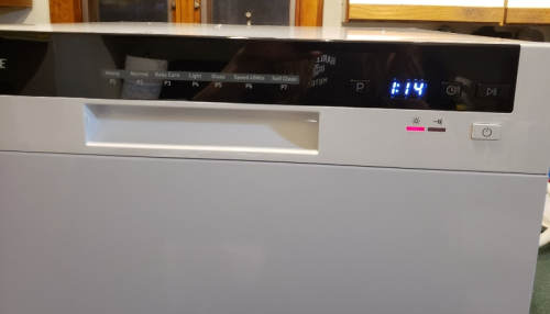 Dishwasher hooked up first day