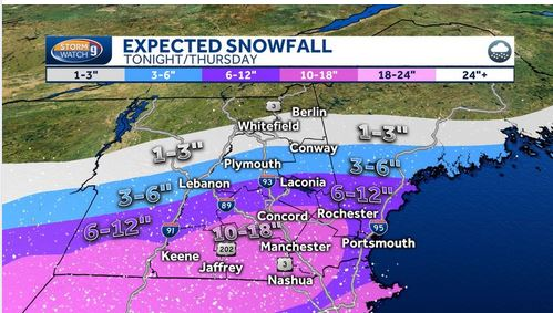 Expected snow 12-17-20