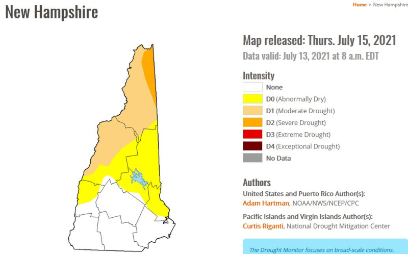 Drought monitor 7-16-21 out of drought