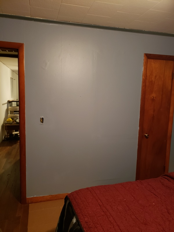 Bed room wall after paint