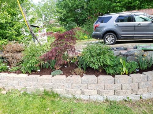 New mulch roadside right